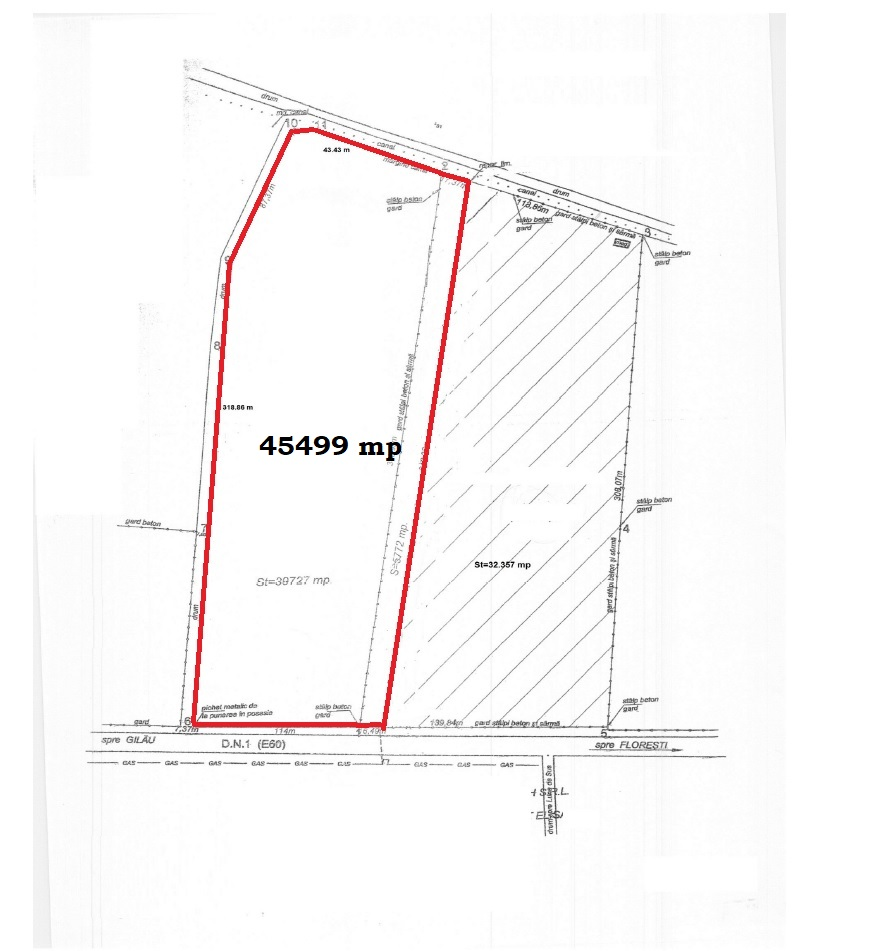 For sale land for retail or industrial in Floresti - AR12878